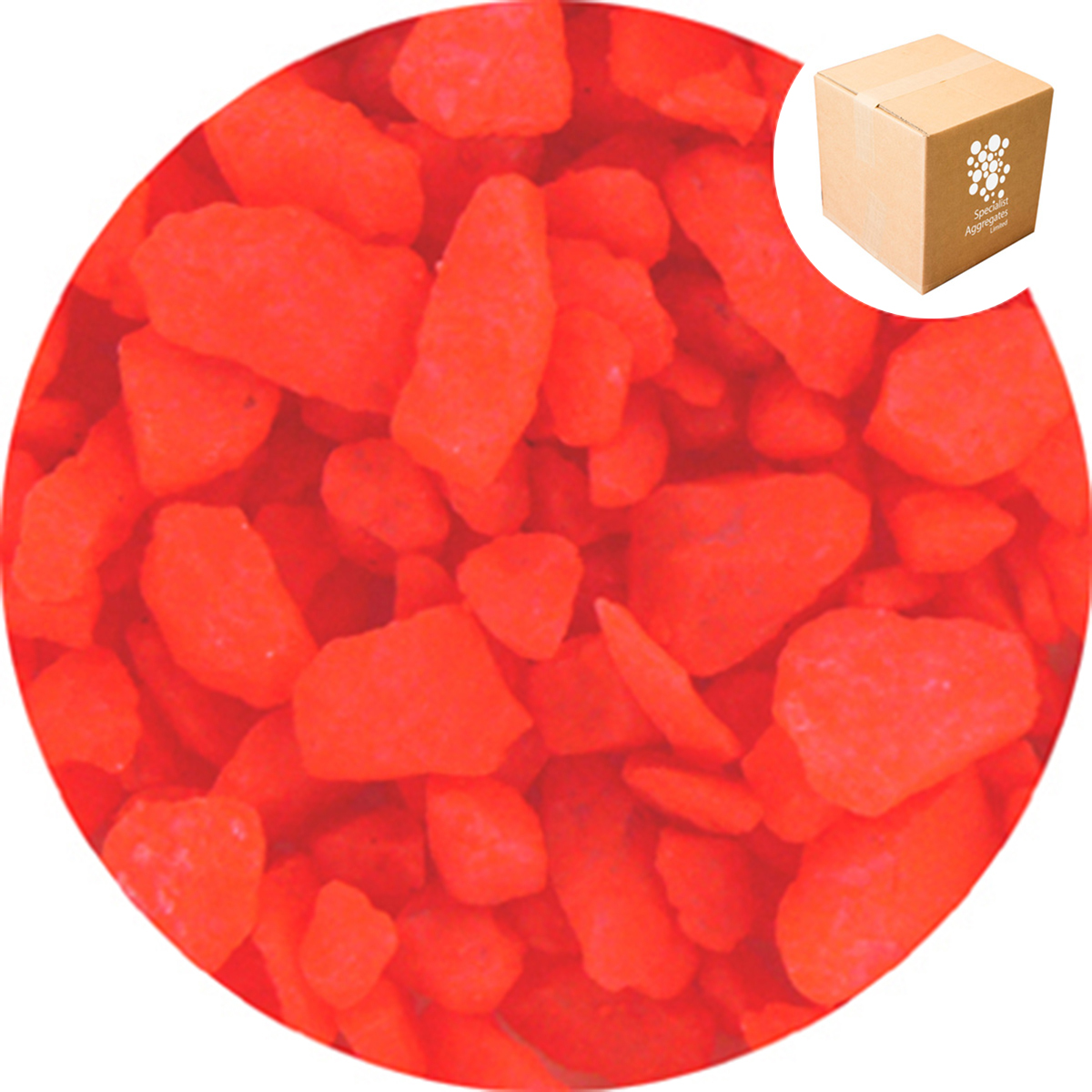 Aspen Crystal  - Day Glo - Bright Red