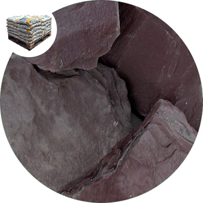 Crushed Slate Chips - Plum - Large