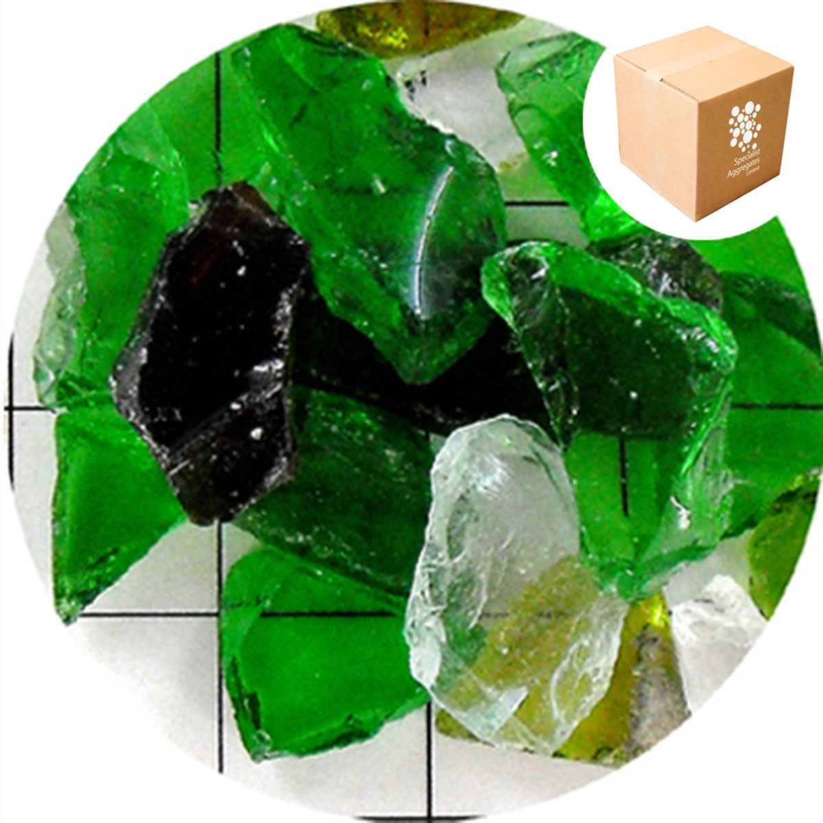 Recycled Glass - Mixed Green