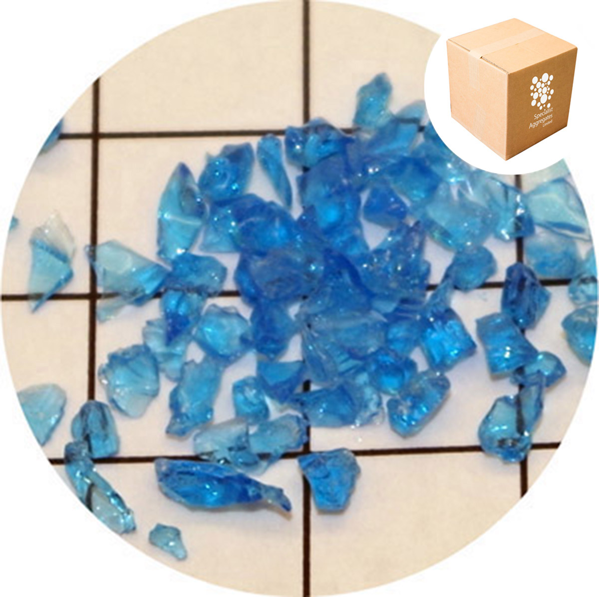 Enviro-Glass - Electric Blue Sand