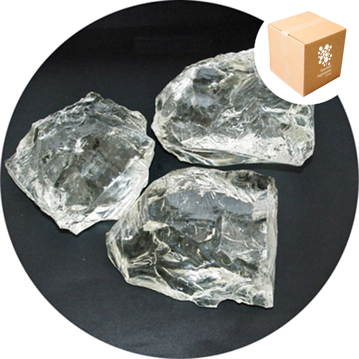 Enviro-Glass - Clear Crystal Glass Rocks