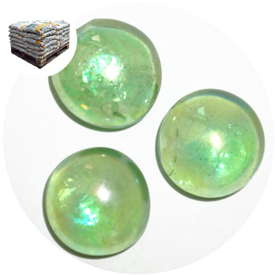 Glass Nuggets - Lustered Green