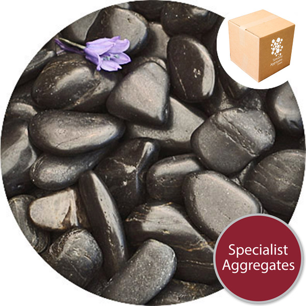 Chinese Pebbles - Polished Black Granite - Small
