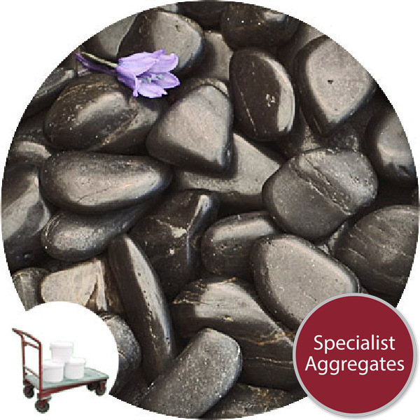Chinese Pebbles - Polished Black Granite - Small - Collect