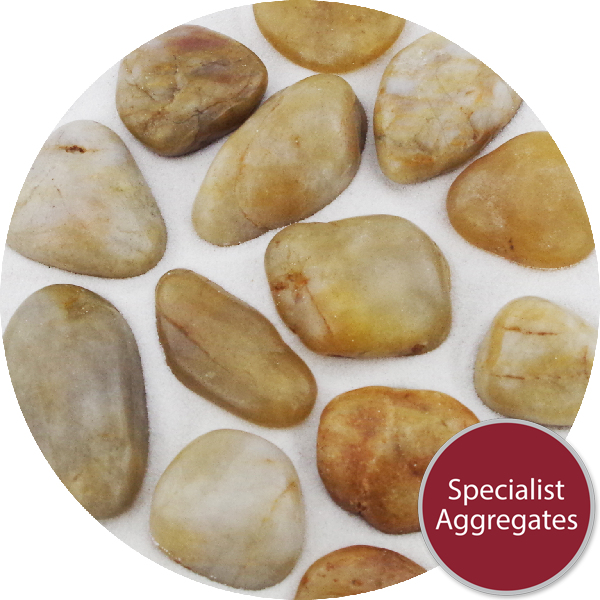 Chinese Pebbles - Polished Golden Amber