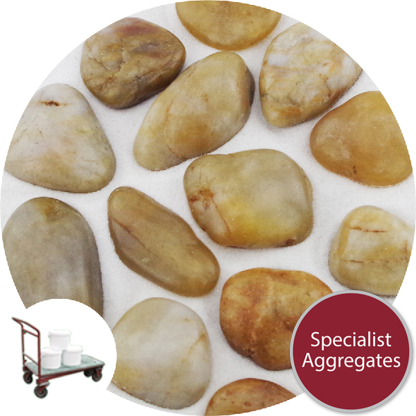 Chinese Pebbles - Polished Golden Amber - Click & Collect