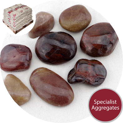 Chinese Pebbles - Polished Mahogany