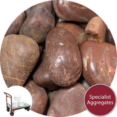 Chinese Pebbles - Polished Mahogany - Collect