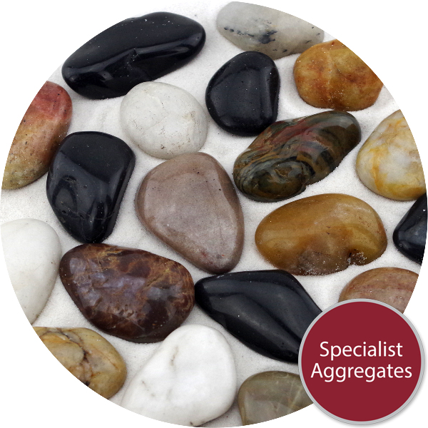 Chinese Pebbles - Polished Mixed Colour