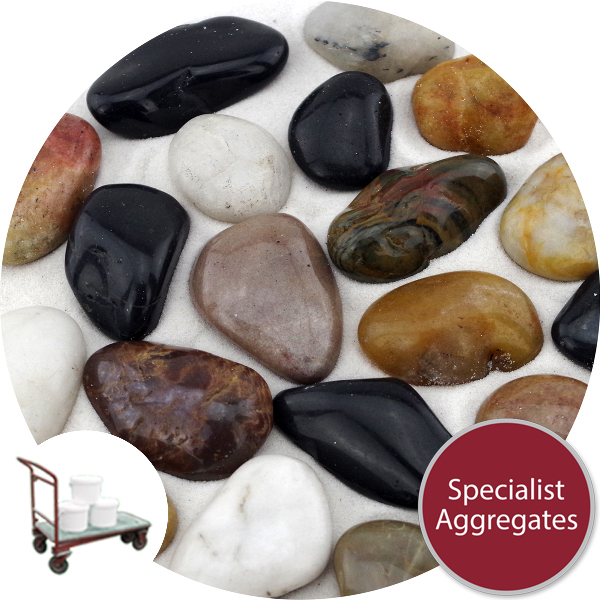 Chinese Pebbles - Polished Mixed Colour - Click & Collect