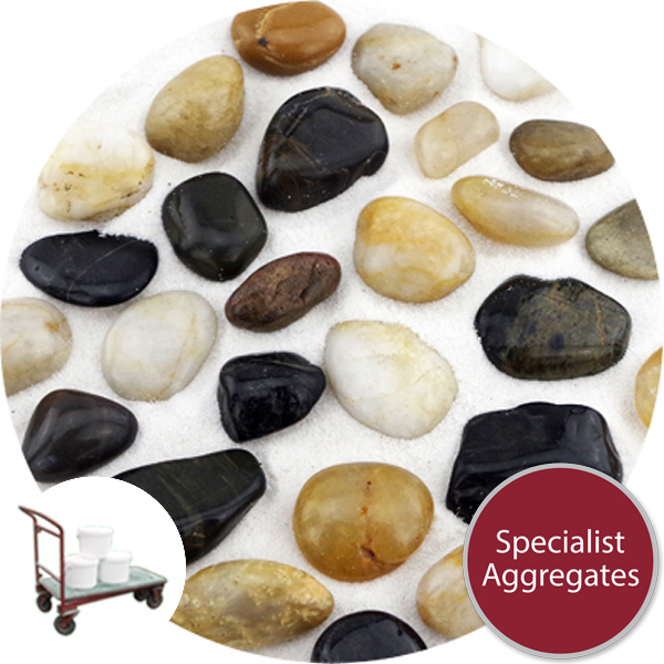 Chinese Pebbles - Polished Mixed Colour - Small - Click&Collect