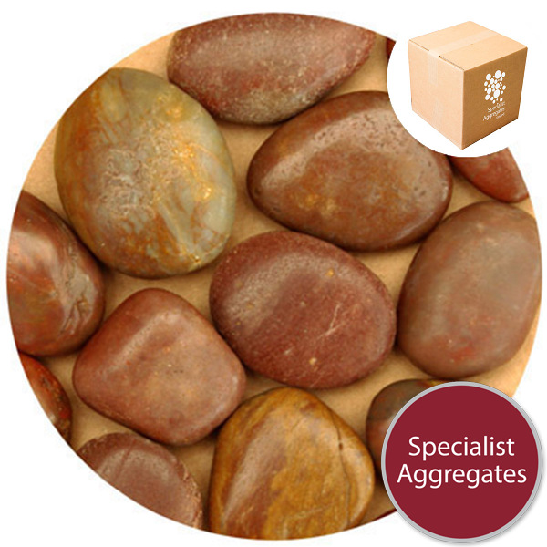 Chinese Pebbles - Polished Red Granite