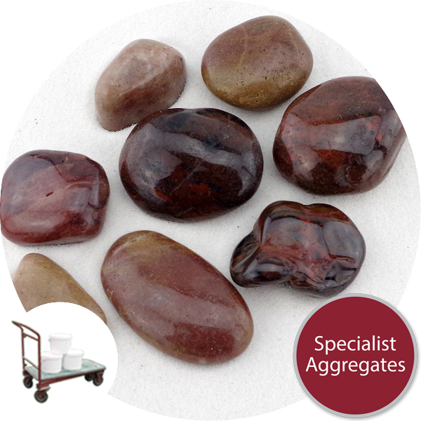 Chinese Pebbles - Polished Red Granite - Click & Collect