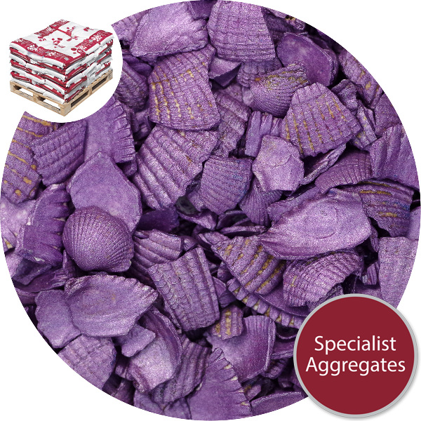 Coloured Sea Shells - Crushed Starburst Violet
