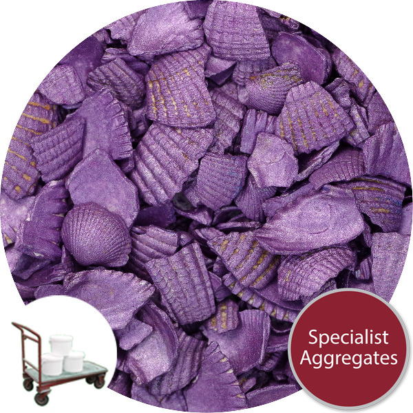 Coloured Sea Shells - Crushed Starburst Violet - Click & Collect