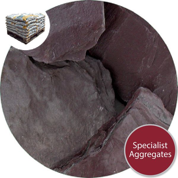 Crushed Slate Chips - Plum - Large - 5109