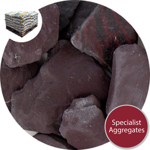 Crushed Slate Chips - Plum - Small