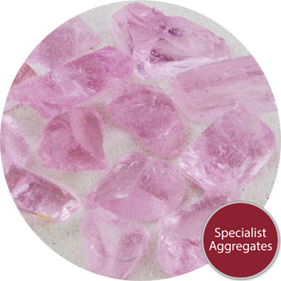 Enviro-Glass - Pink Crystal Large Gravel