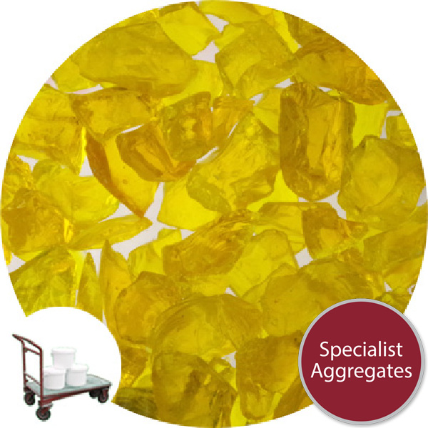 Enviro-Glass Gravel - Golden Yellow Crystal - Click & Collect