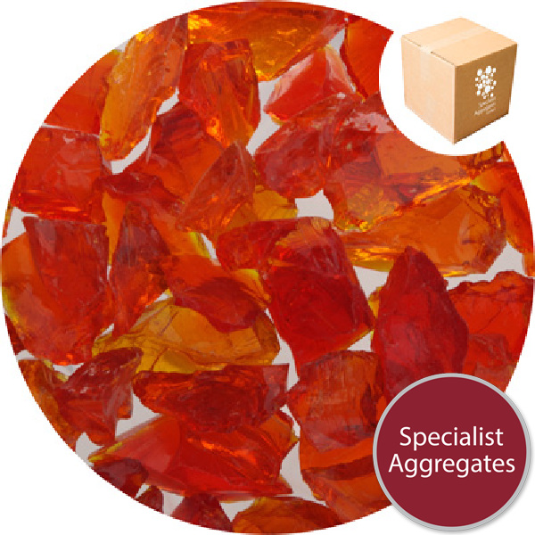 Enviro-Glass Gravel - Orange Citrus Crystal - Click & Collect