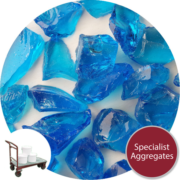 Enviro-Glass Large Gravel - Aqua Blue Crystal - Click & Collect