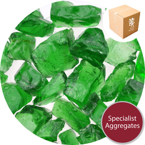 Enviro-Glass Large Gravel - Emerald Green Crystal - Click & Collect