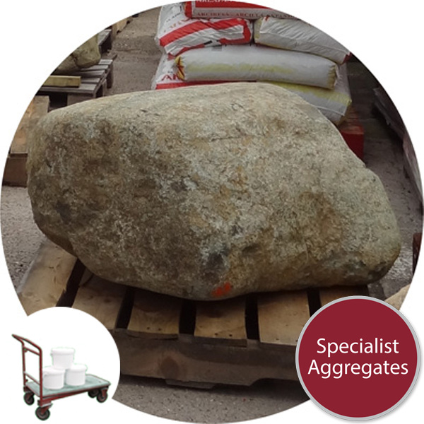 Glacial Boulder - 1 Large Rounded - Click & Collect