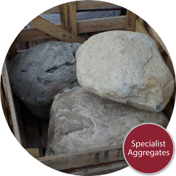 Glacial Boulders - 3 Large Rounded