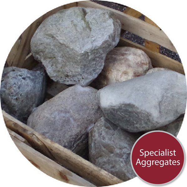 Glacial Boulders - 7 Medium/Small Rounded