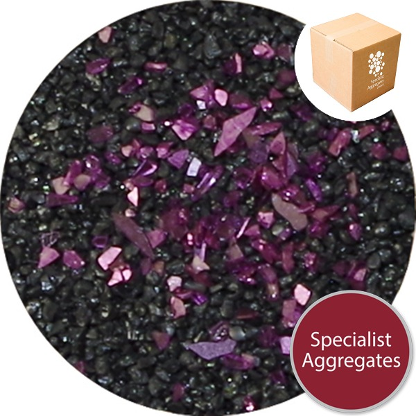 Glass Glitter - Purple - 7781
