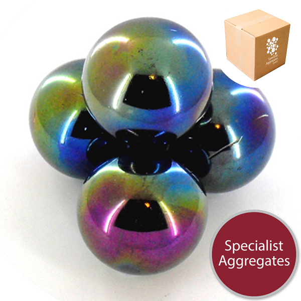 Glass Marbles - Lustered Blue - Giant