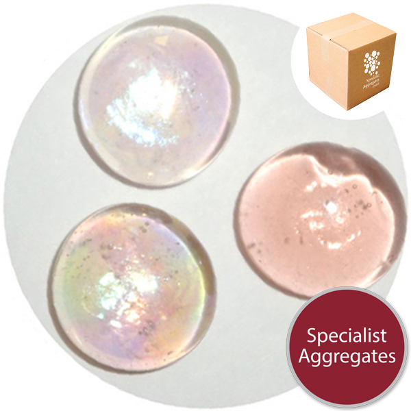 Glass Nuggets - Lustered Apricot Pink - 9102