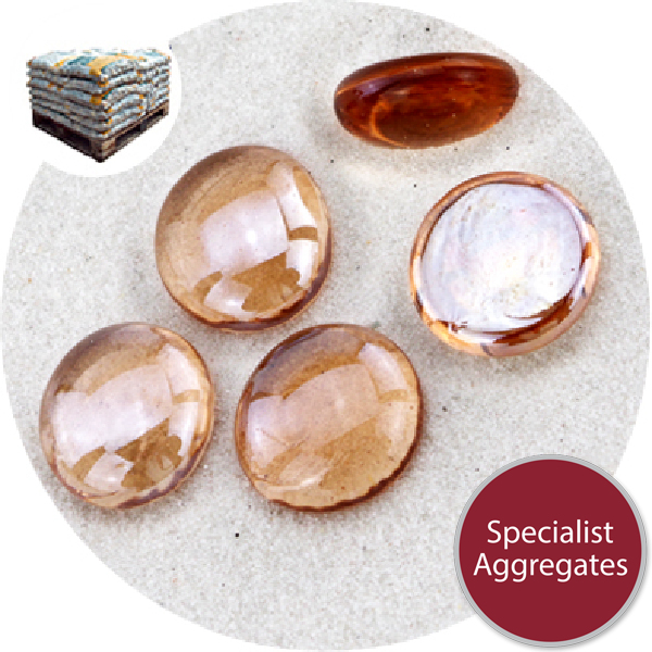 Glass Nuggets - Lustered Apricot Pink