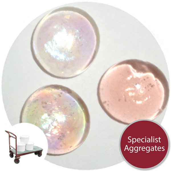 Glass Nuggets - Lustered Apricot Pink - Click & Collect