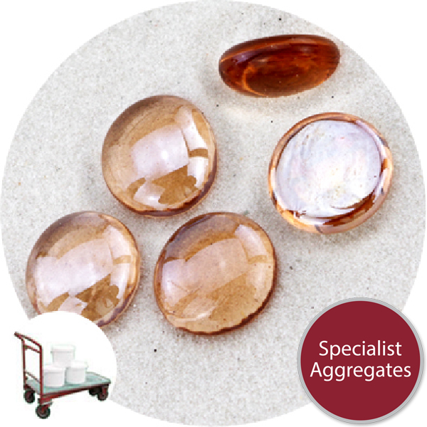 Glass Nuggets - Lustered Apricot Pink - Collect - 9102