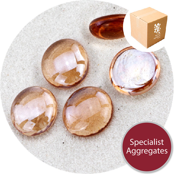 Glass Nuggets - Lustered Apricot Pink - Design Pack