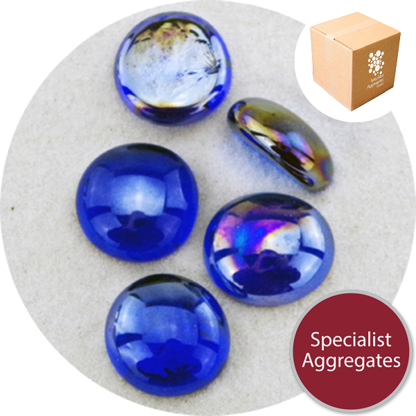 Glass Nuggets - Lustered Dark Blue