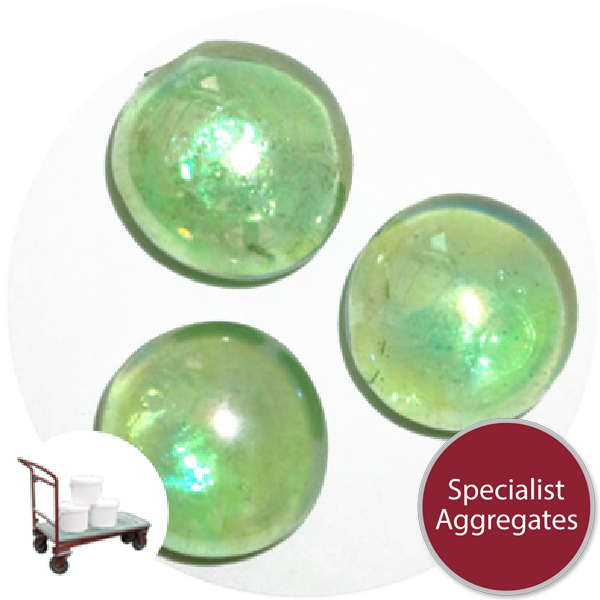 Glass Nuggets - Lustered Green - Click & Collect