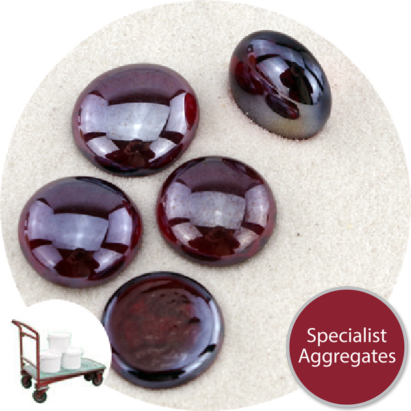 Glass Nuggets - Lustered Ruby Red - Click & Collect