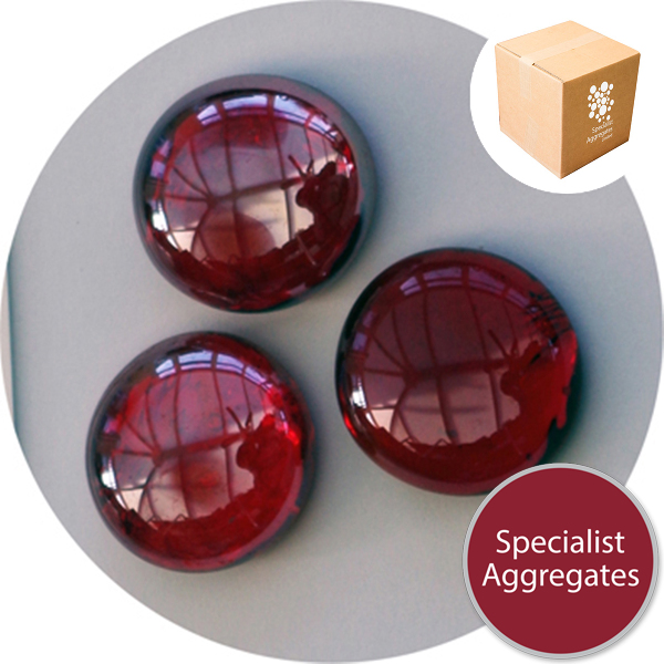 Glass Nuggets - Lustered Ruby Red - Design Pack
