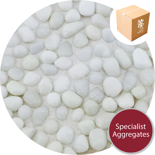 Glass Pea Gravel - Opaque White - Design Pack