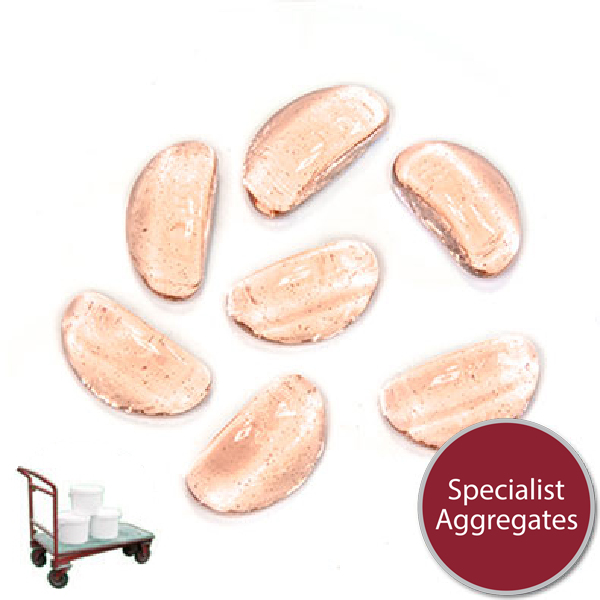 Glass Stones - Apricot Pink - Click & Collect