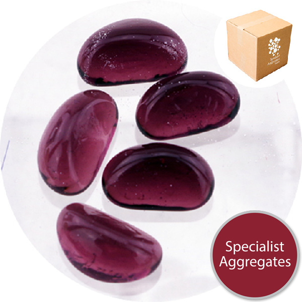 Glass Stones - Aubergine Purple
