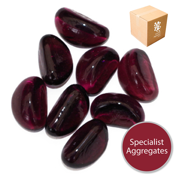 Glass Stones - Aubergine Purple - Design Pack