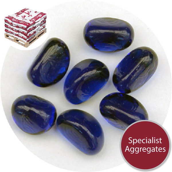 Glass Stones - Dark Blue