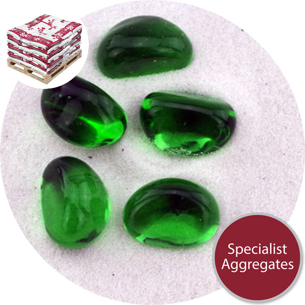 Glass Stones - Forest Green