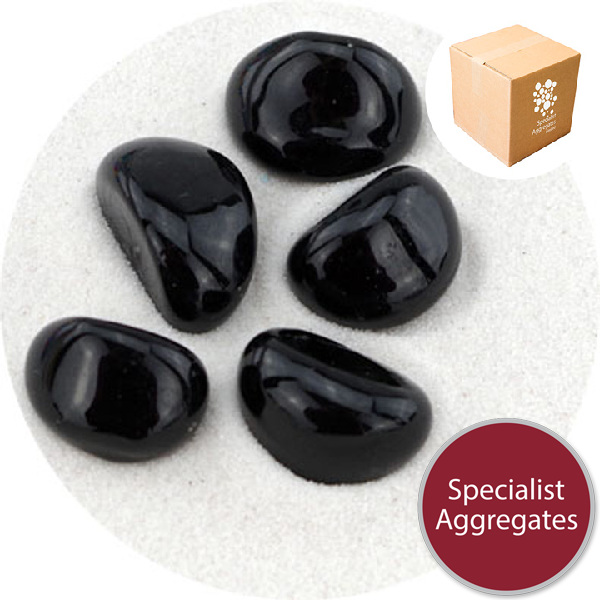 Glass Stones - Jet Black