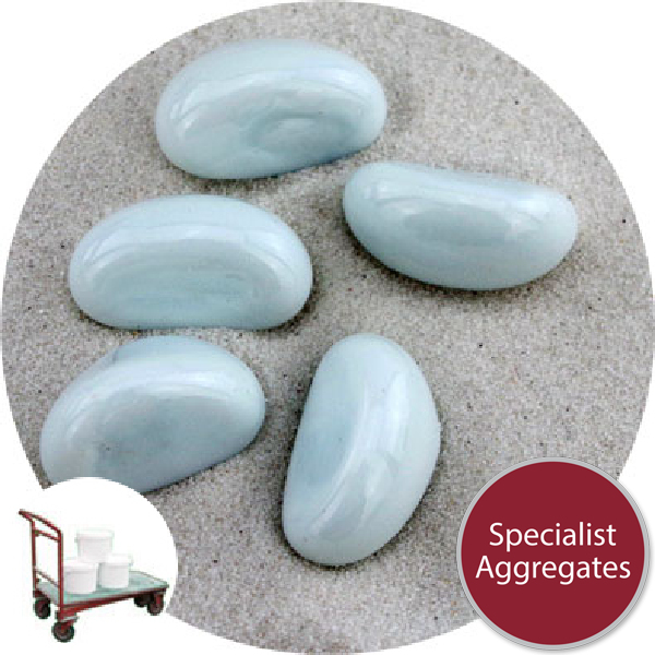 Glass Stones - Opal White - Click & Collect