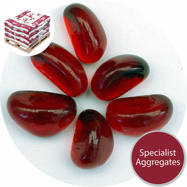Glass Stones - Ruby Red