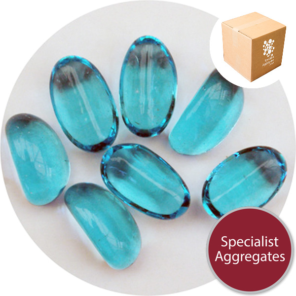 Glass Stones - Turquoise Blue